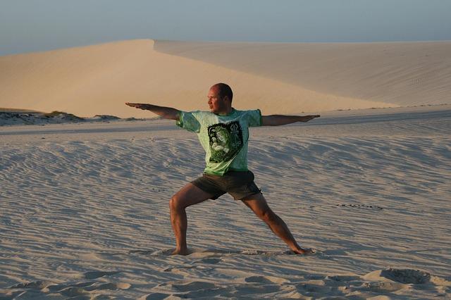 muž na poušti