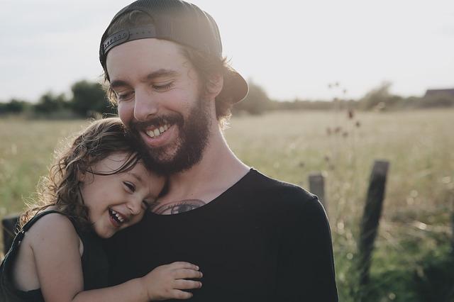 šťastná dcerka